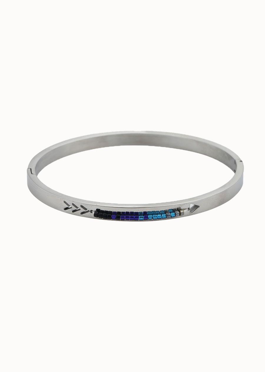 Bangle armband zilver