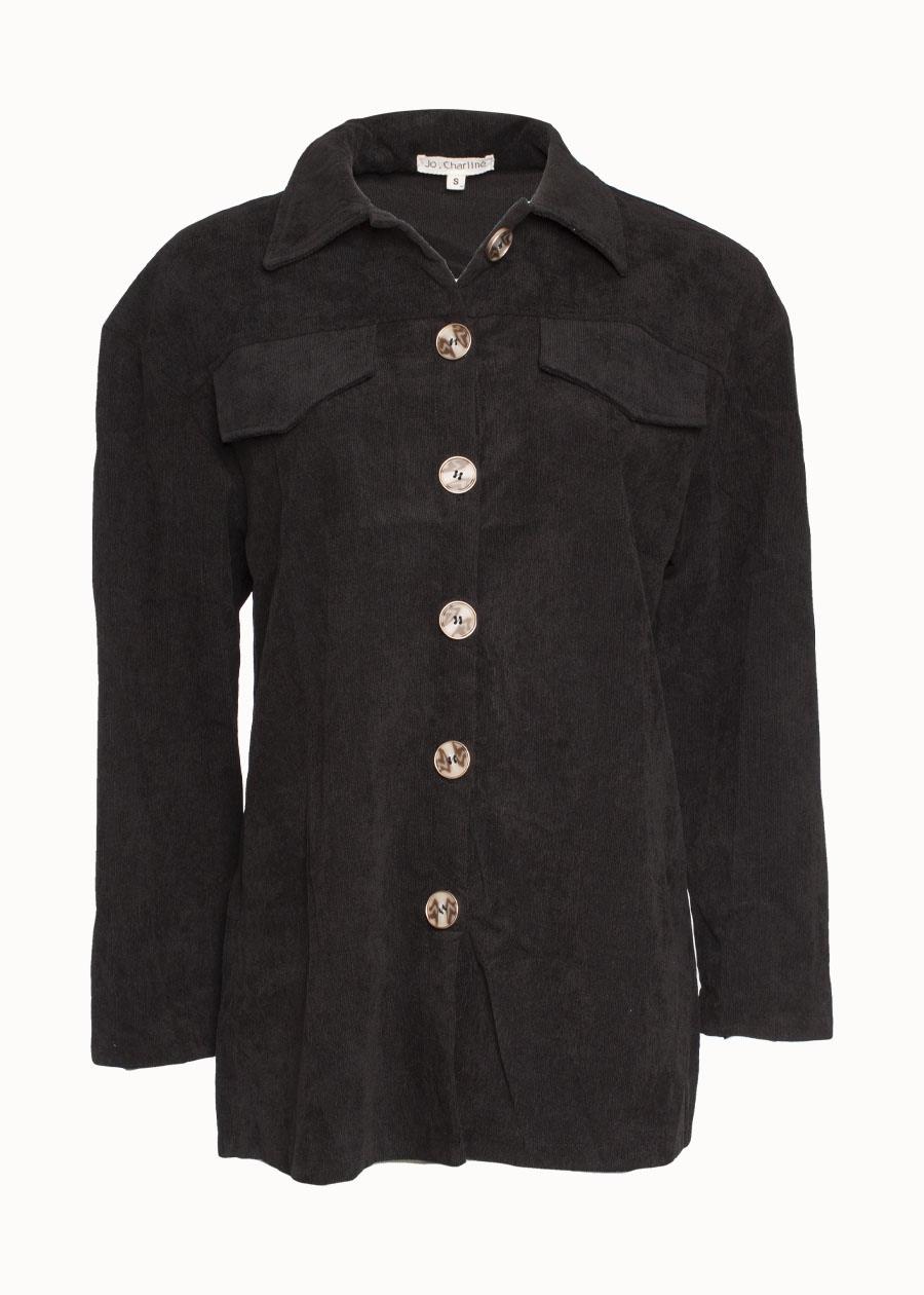 Oversized zwarte blouse
