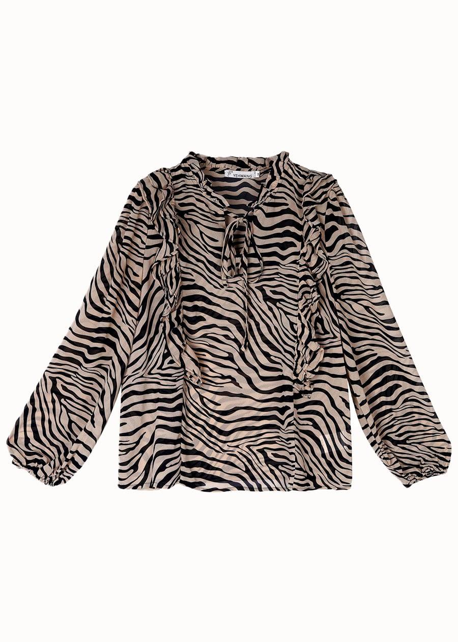 Blouse zebra print