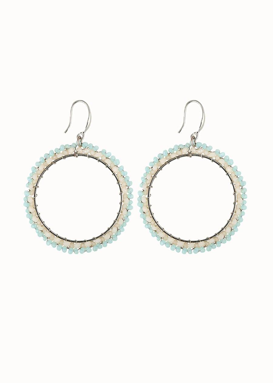 Oorbellen Beads blauw