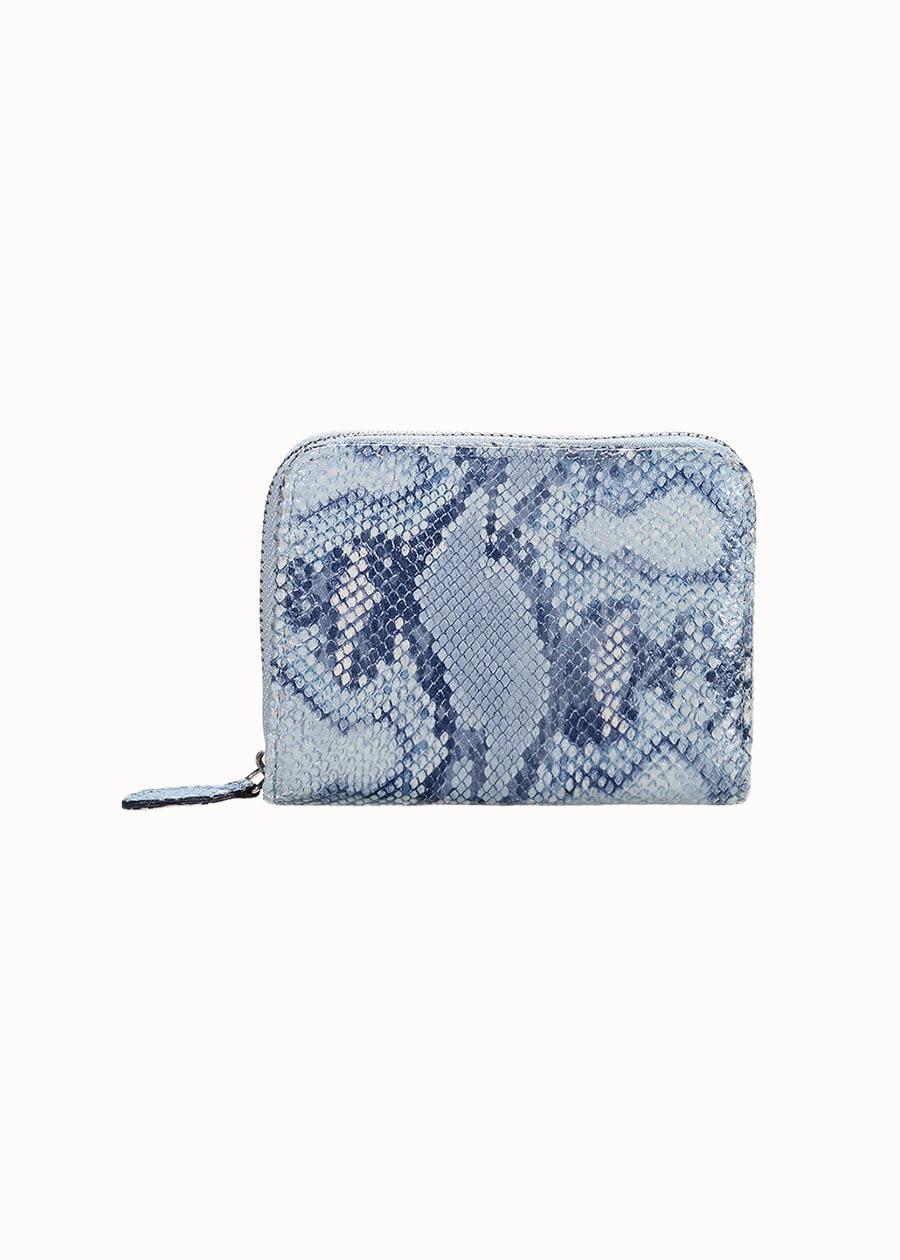Portemonnee slangenprint blauw
