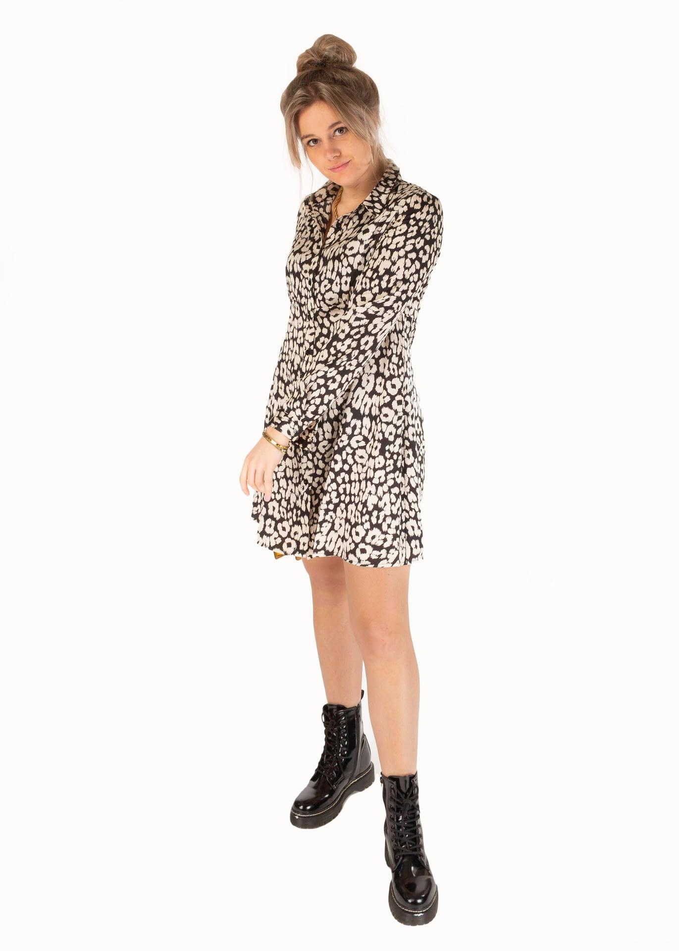 In Vogue jurk leopard