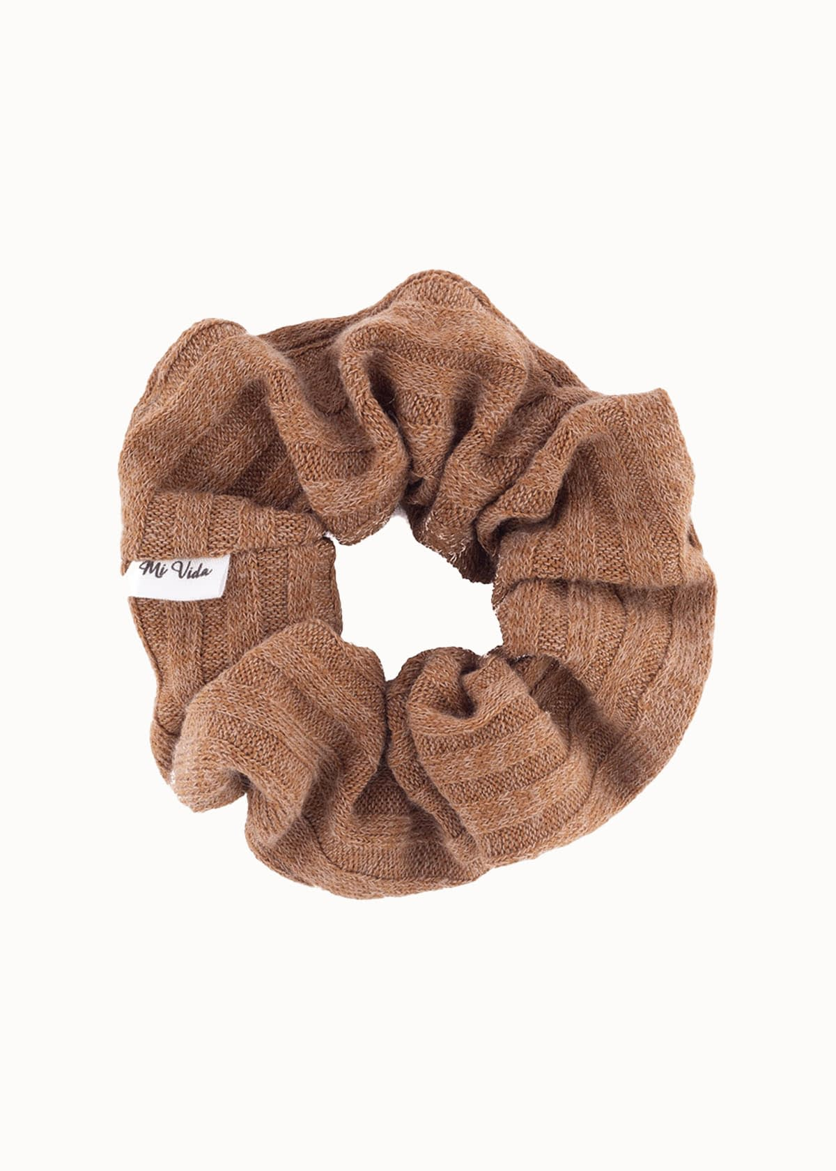 Knitted scrunchie bruin