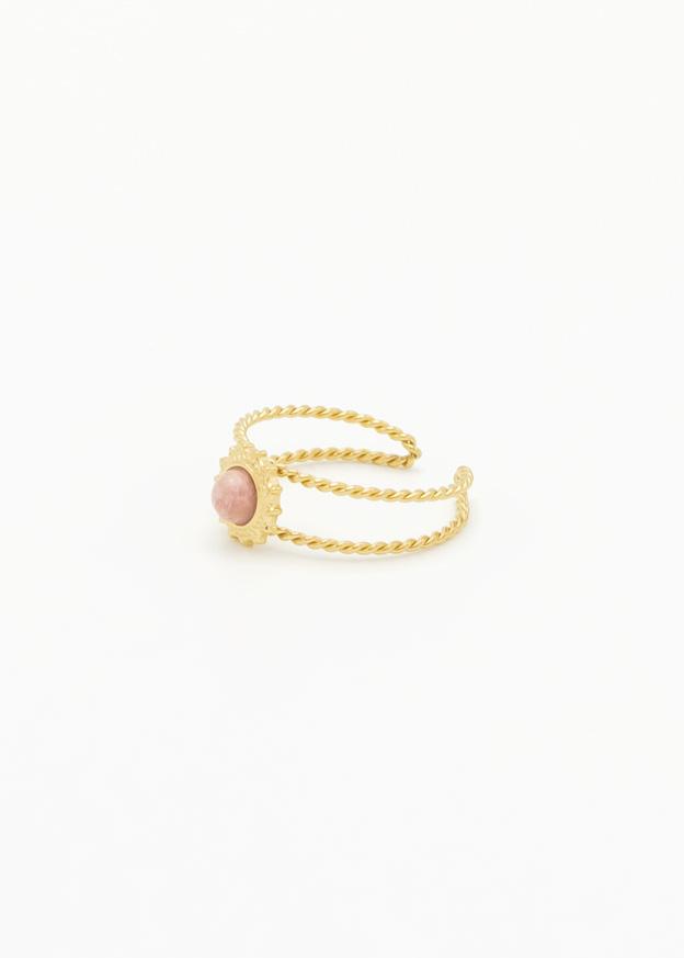 Ring met roze edelsteen