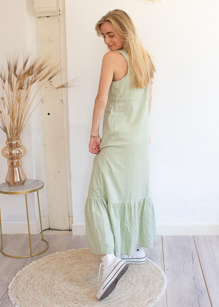 Lange jurk mint