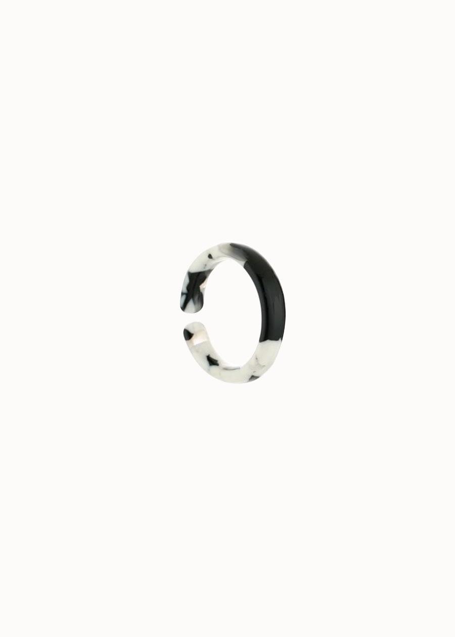 Ring marble look zwart