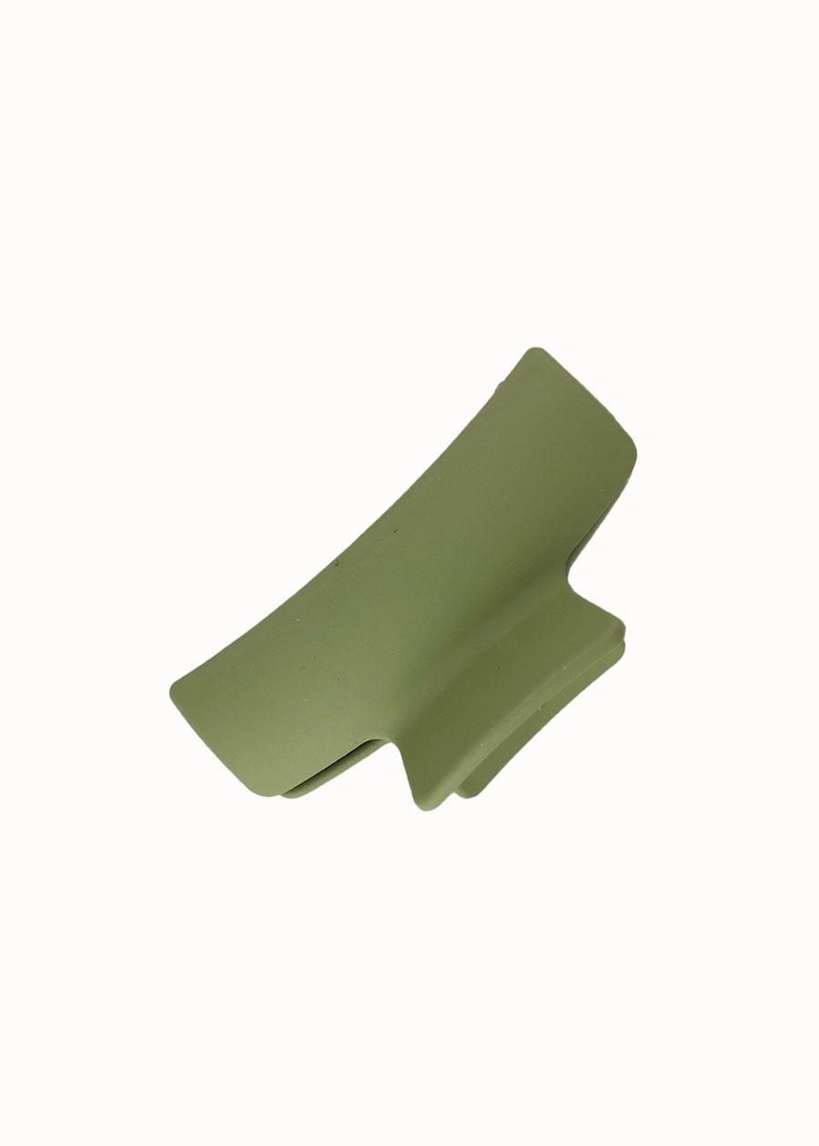 Matte haarklem groen