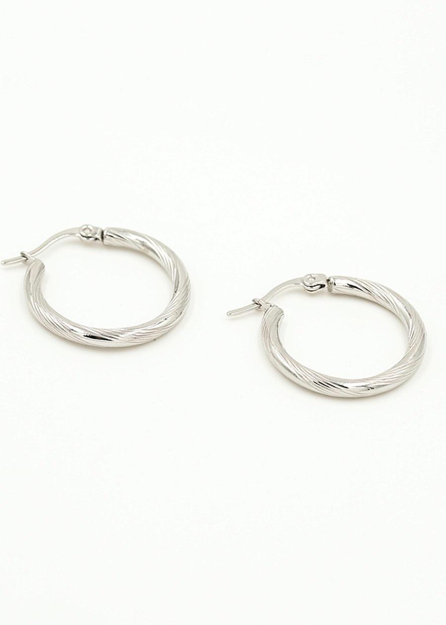 Bali oorbellen ring
