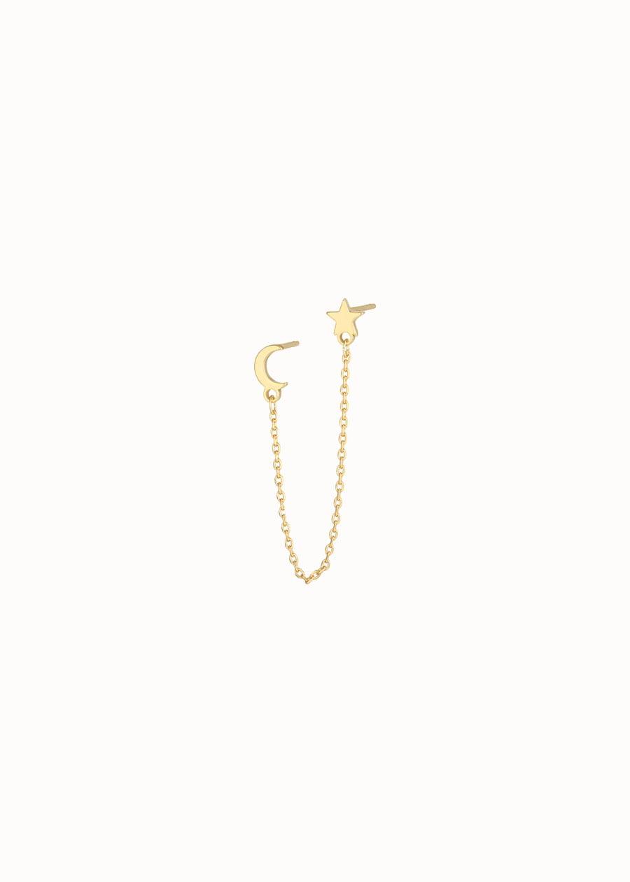 Chain oorbel goud