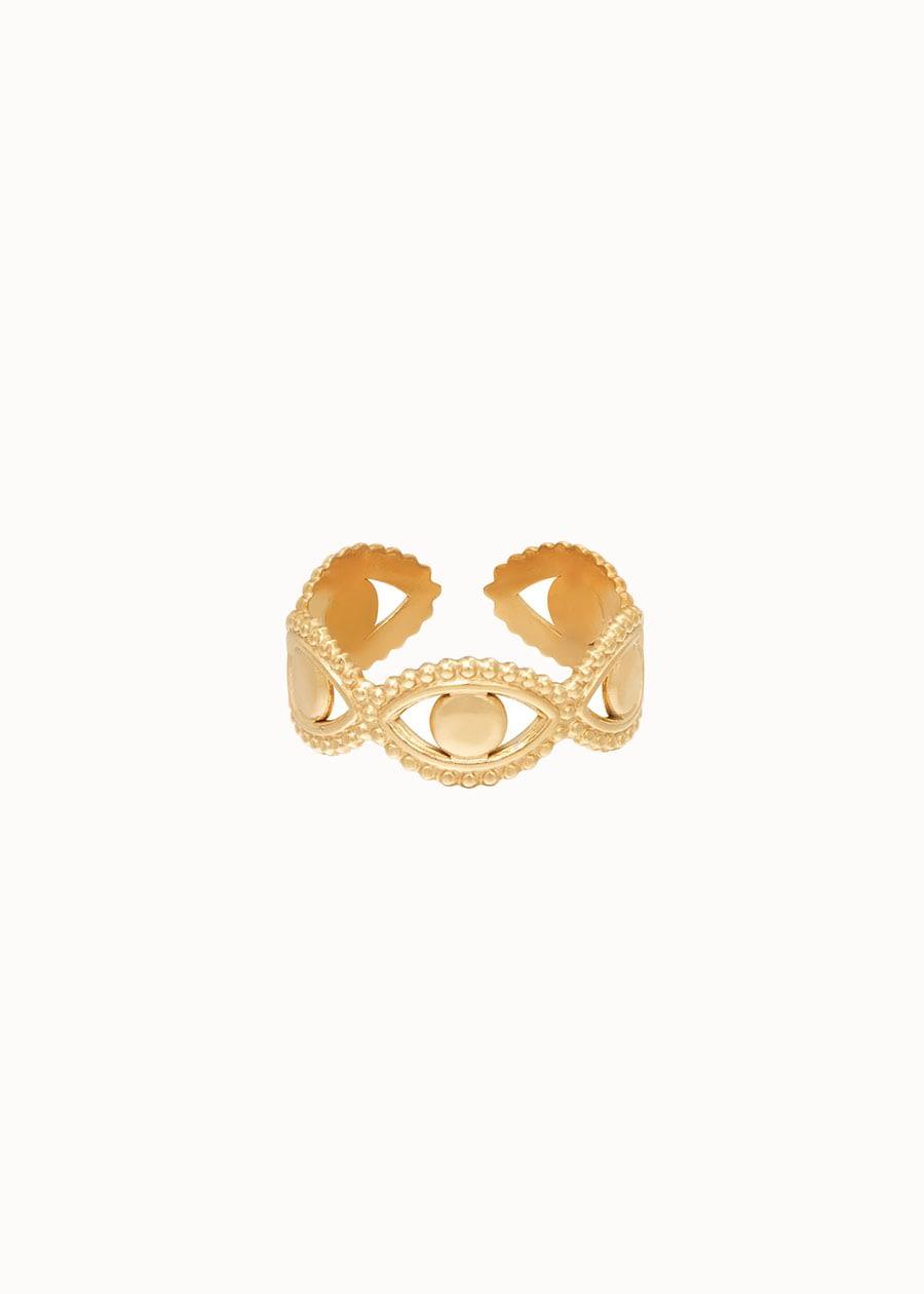 Ring eyes around goud