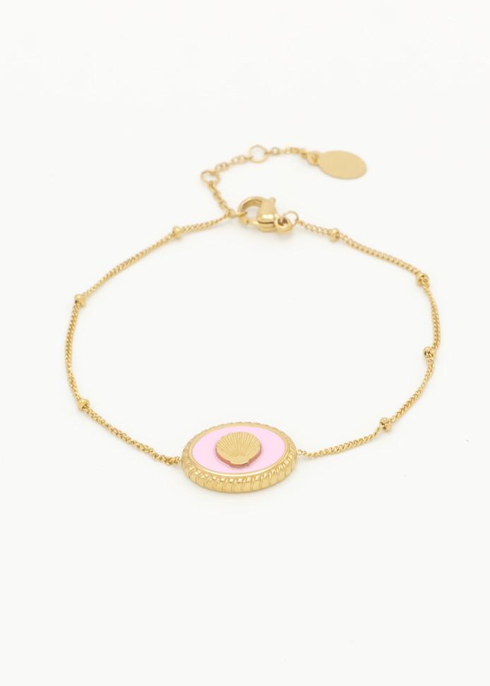 Armband pink shell