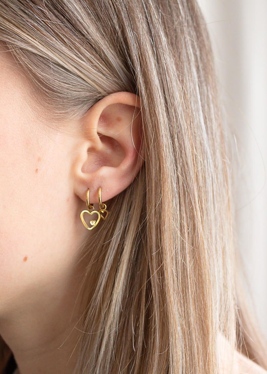 Hartjes oorbellen Noor