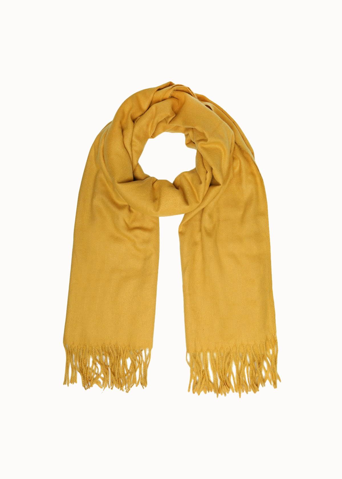 Warme dames sjaal okergeel