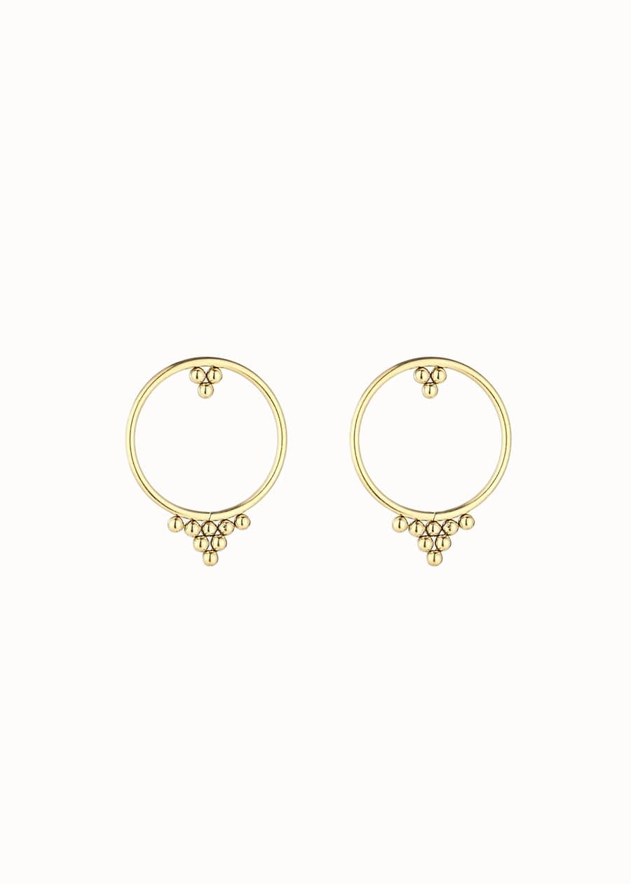 Gouden oorbellen Bali