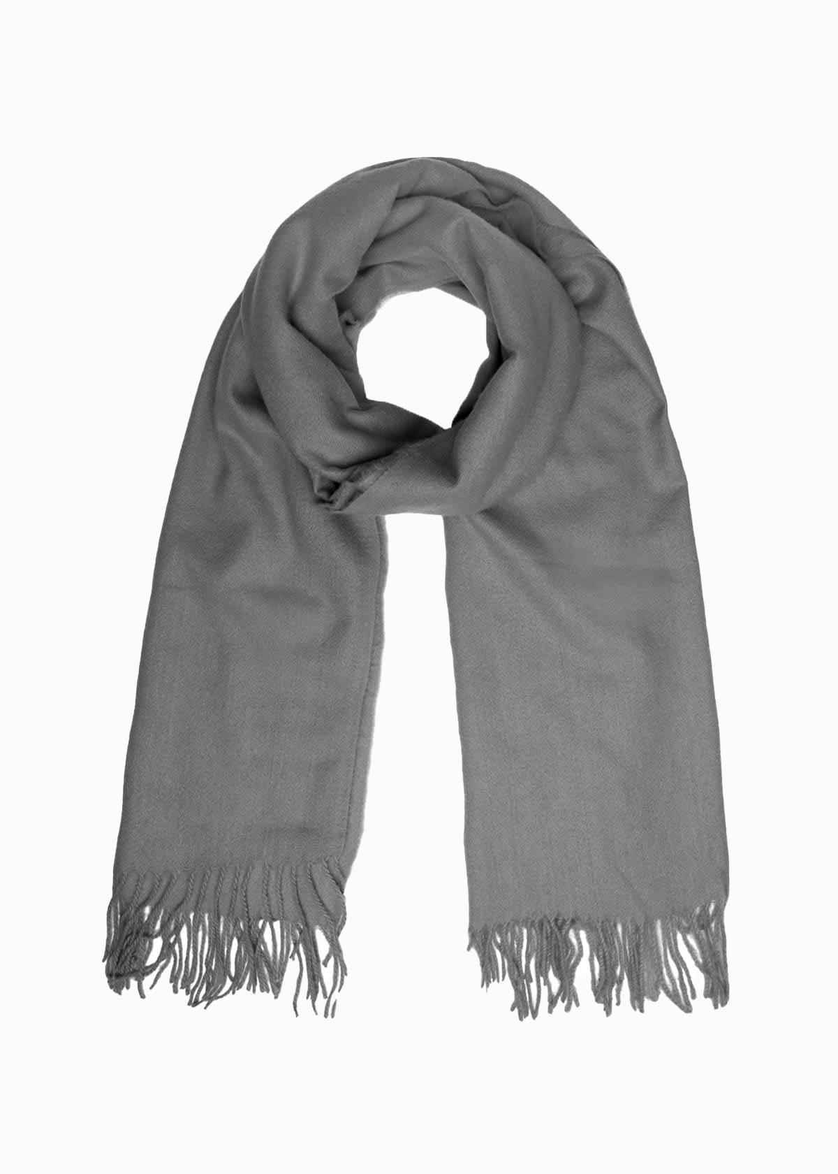 Warme dames sjaal grijs