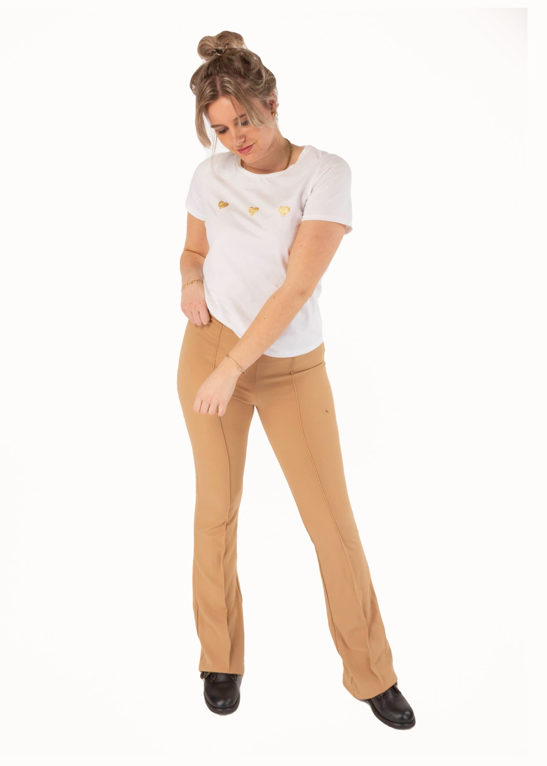 Lynn flared pants camel
