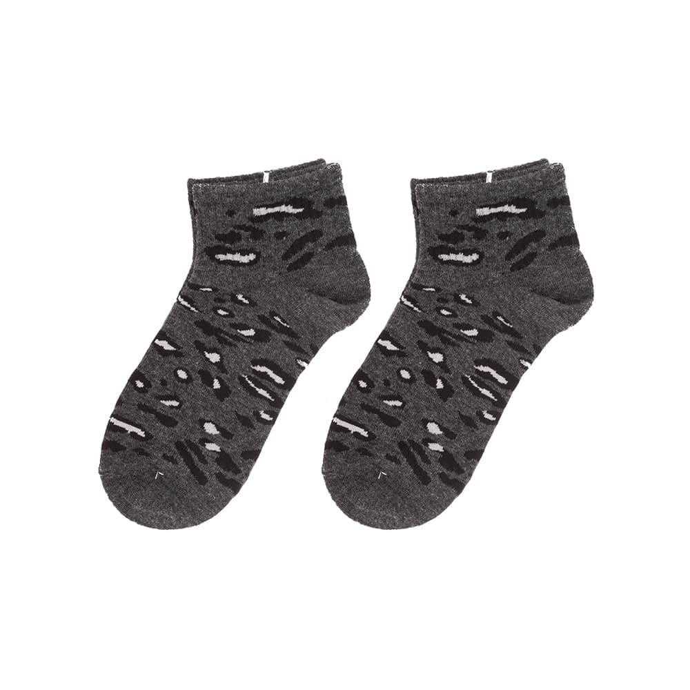 Sokken enkel luipaard print grijs