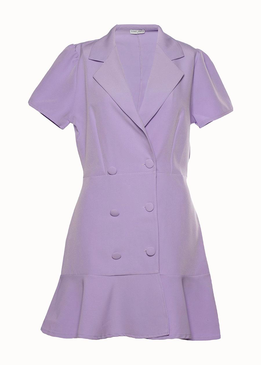 Blazer jurk lila