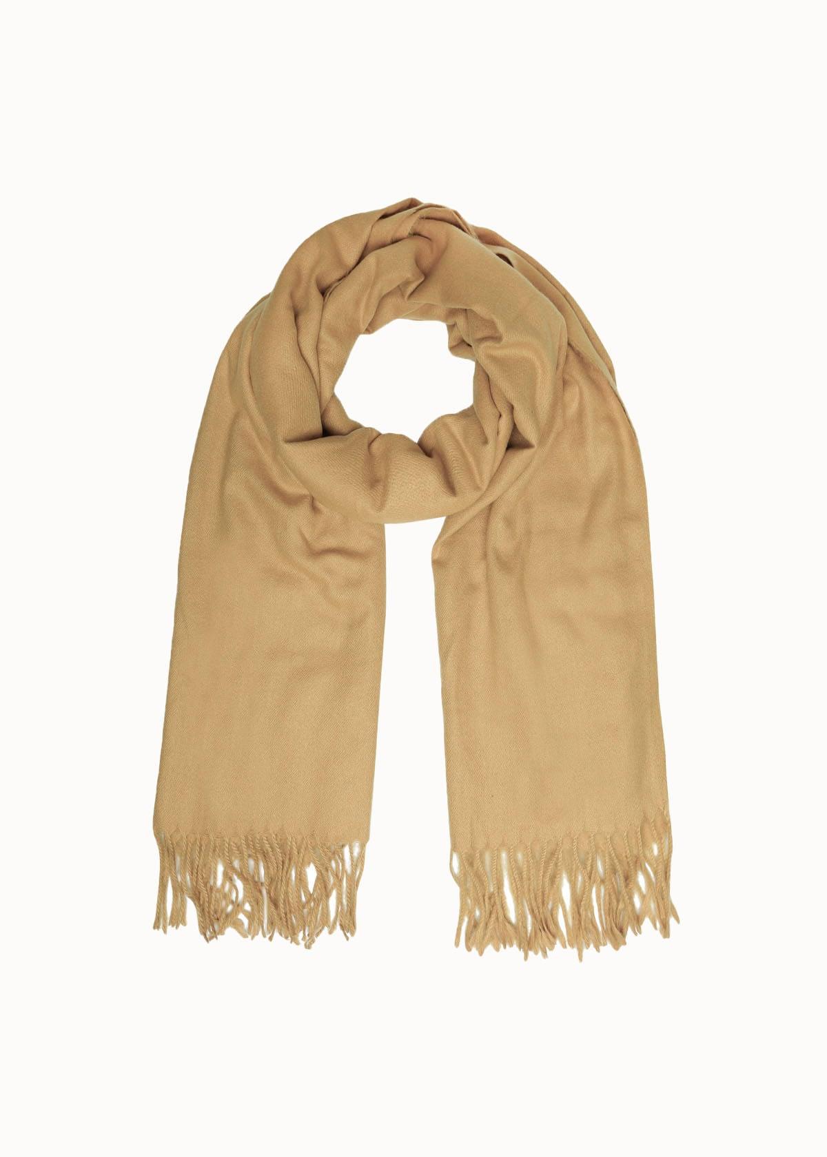 Warme dames sjaal beige