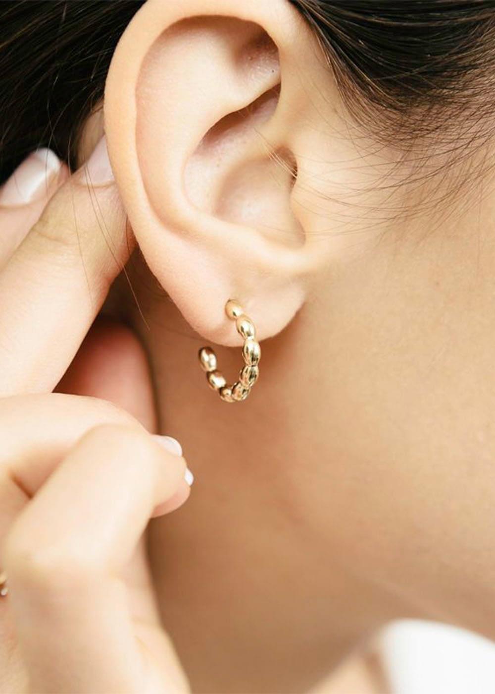 Bali oorbellen dots