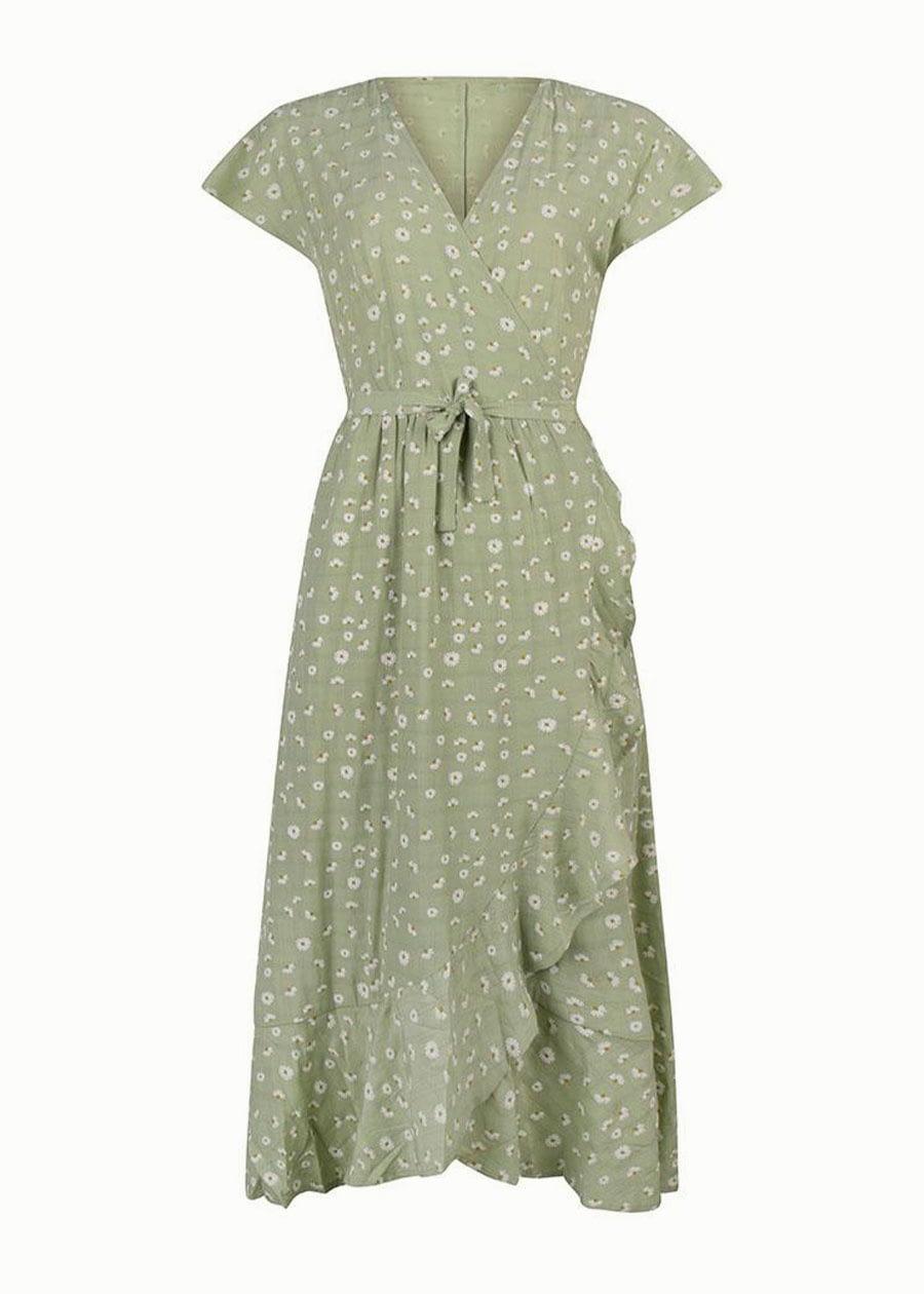 Maxi dress bloemenprint groen