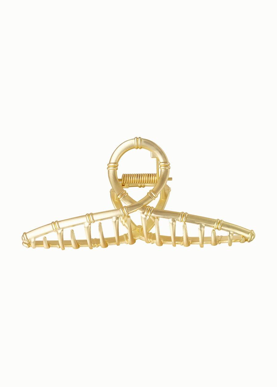 Gouden haarklem bamboe