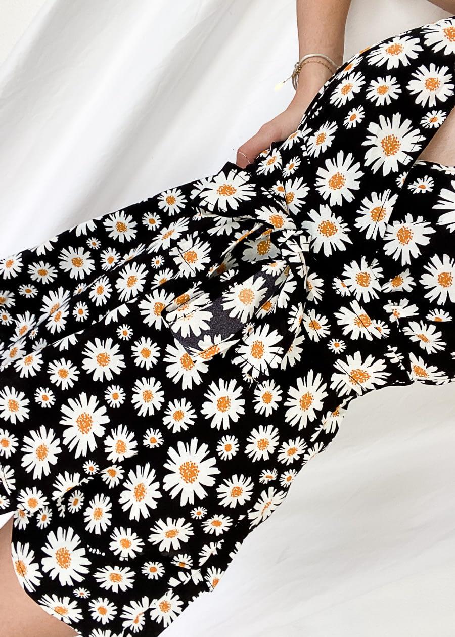 Jumpsuit bloemenprint zwart