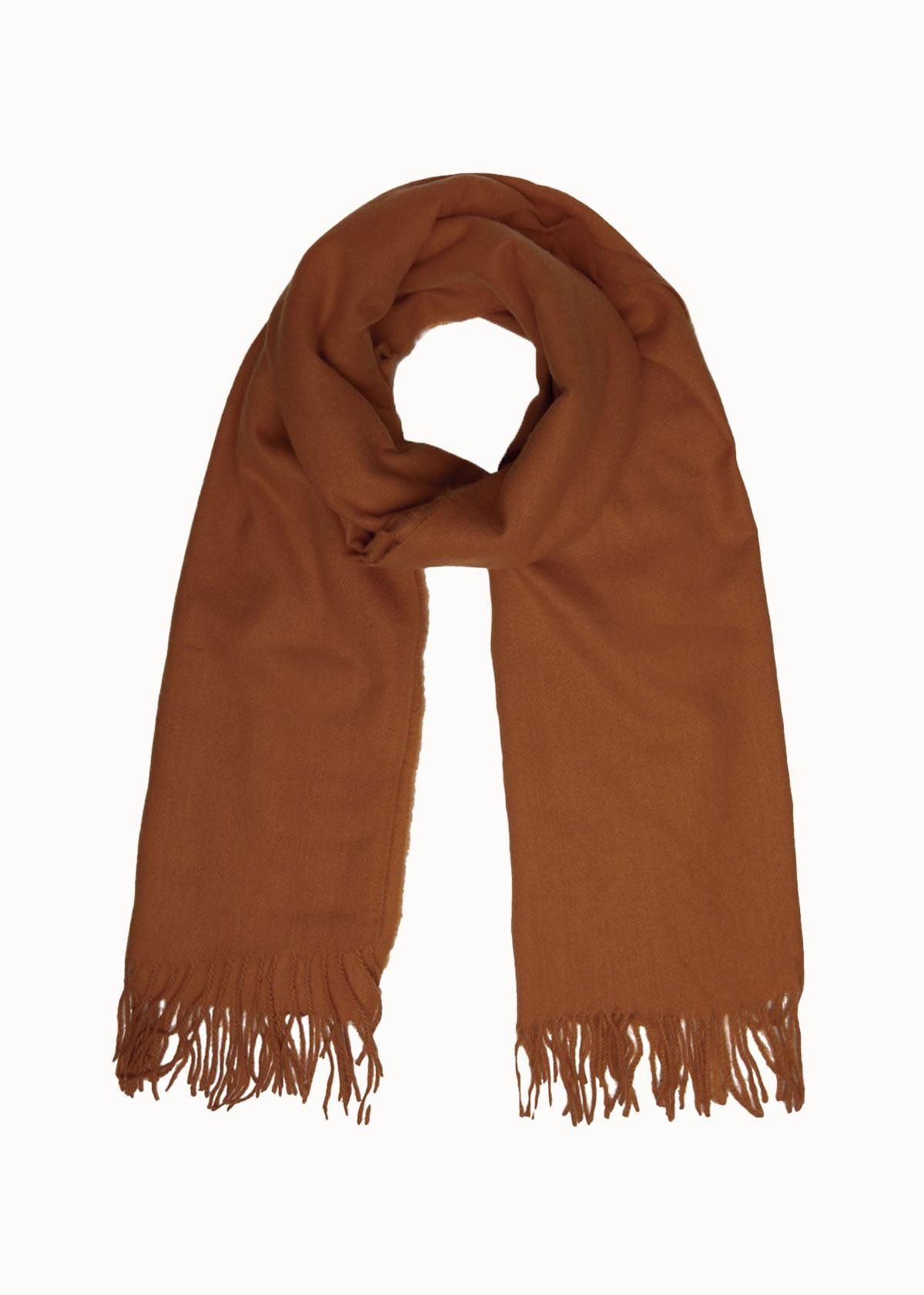 Warme dames sjaal bruin