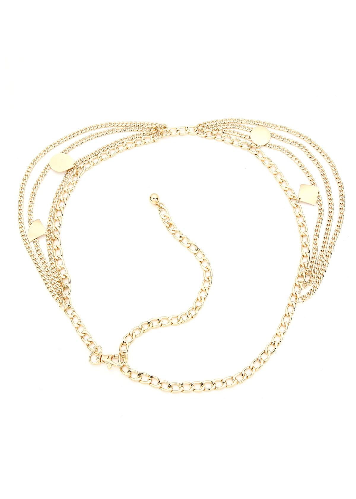 Chain belt coins