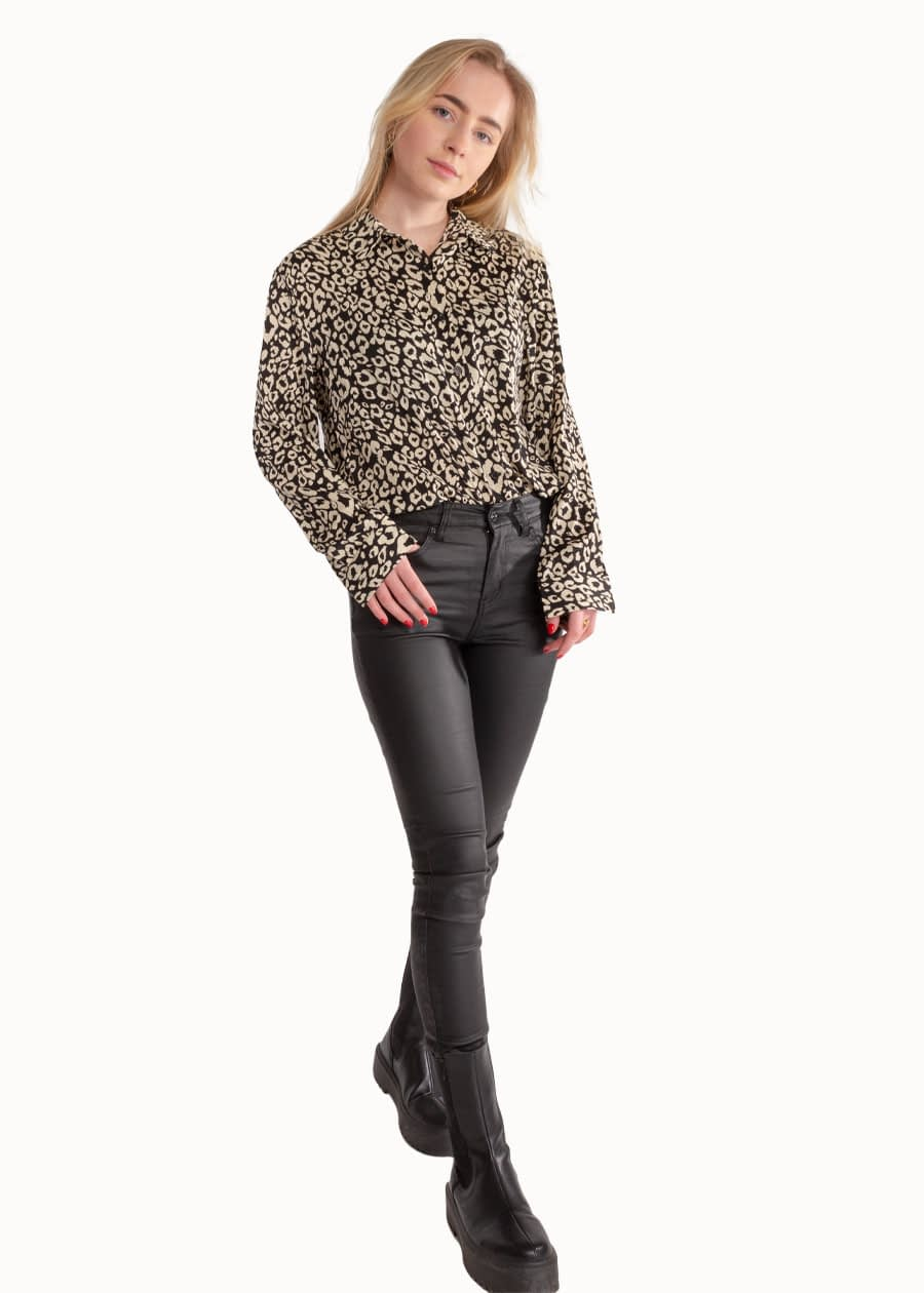 Luipaard blouse