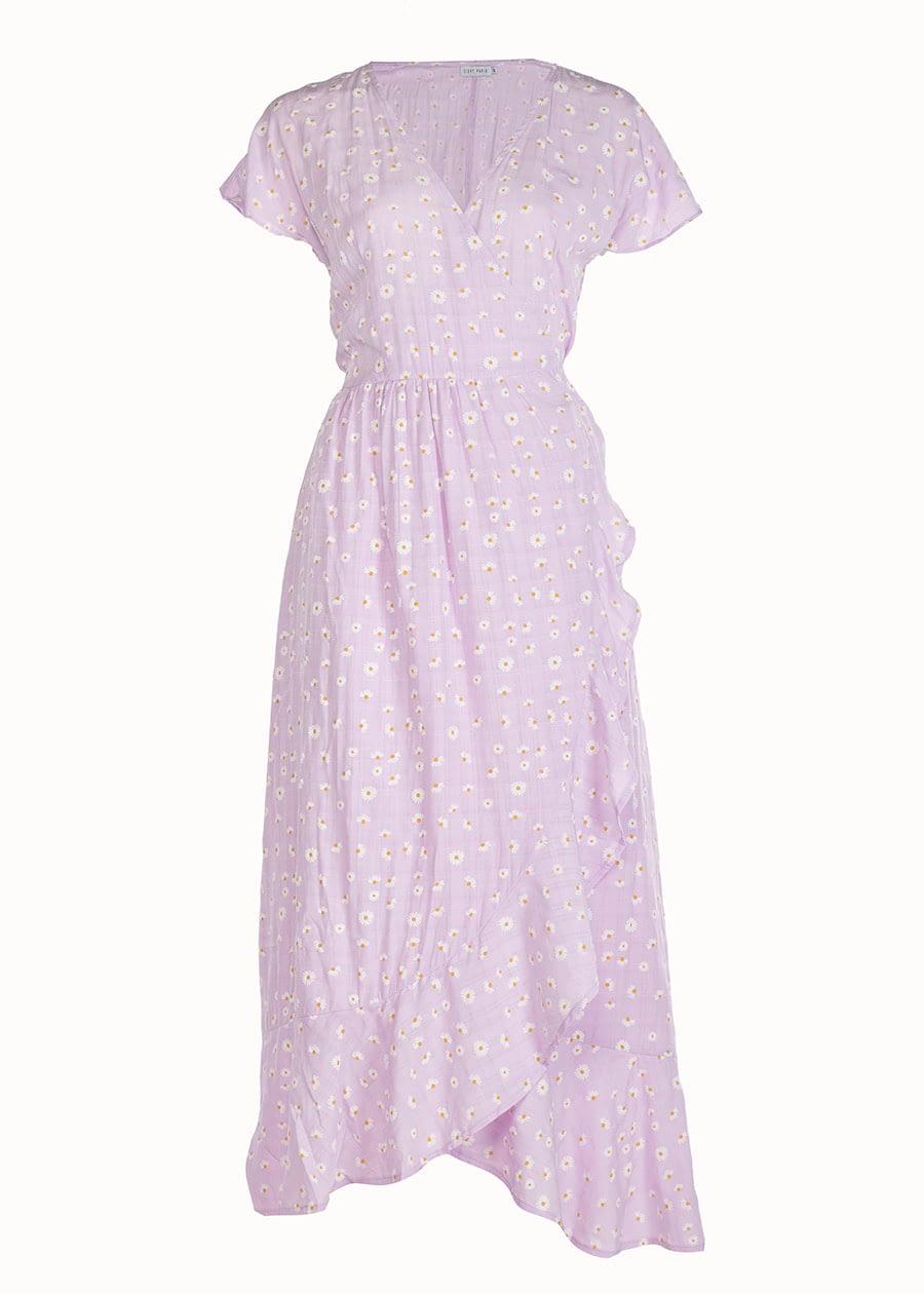 Maxi dress bloemenprint lila
