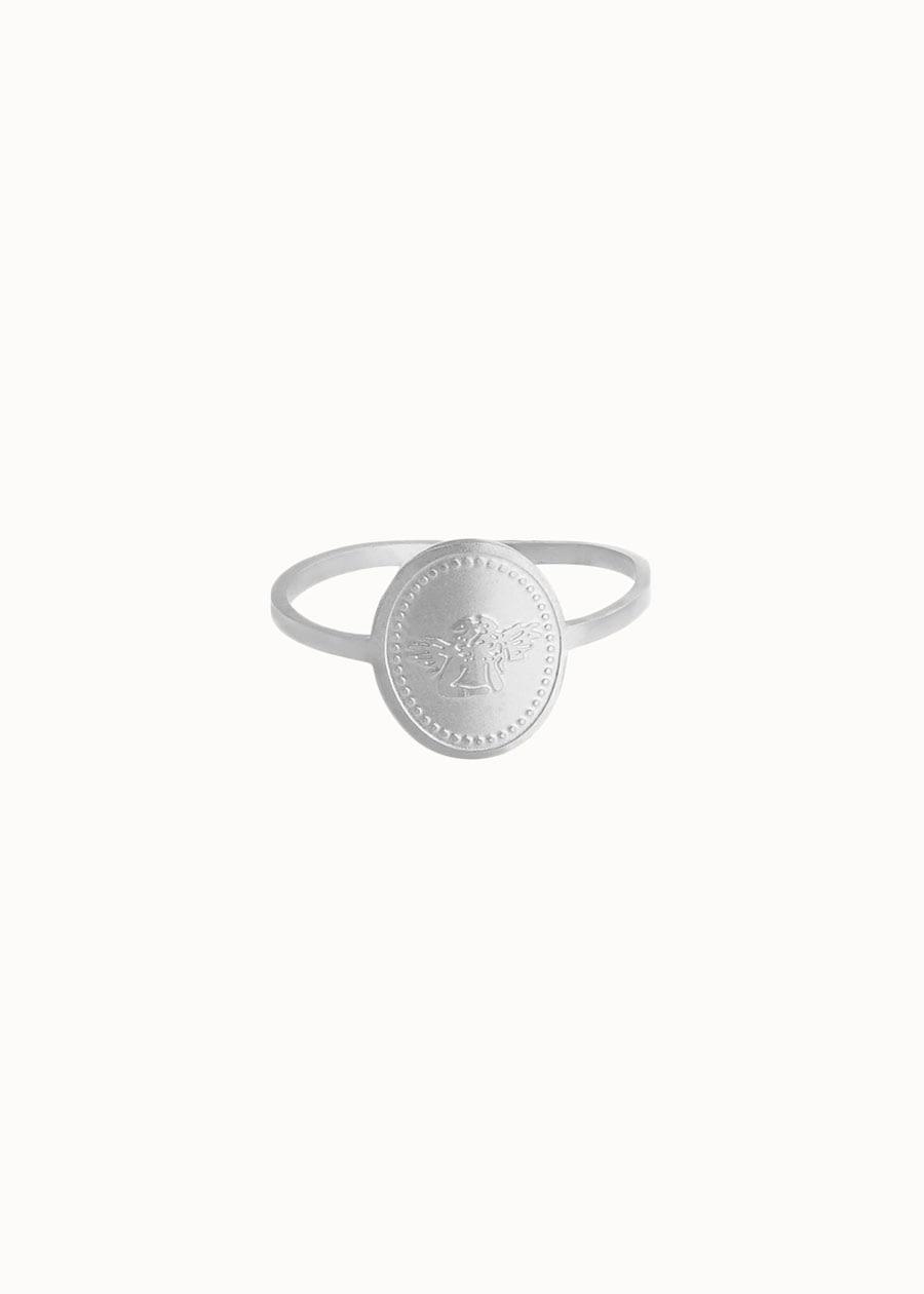 Ring little angel zilver