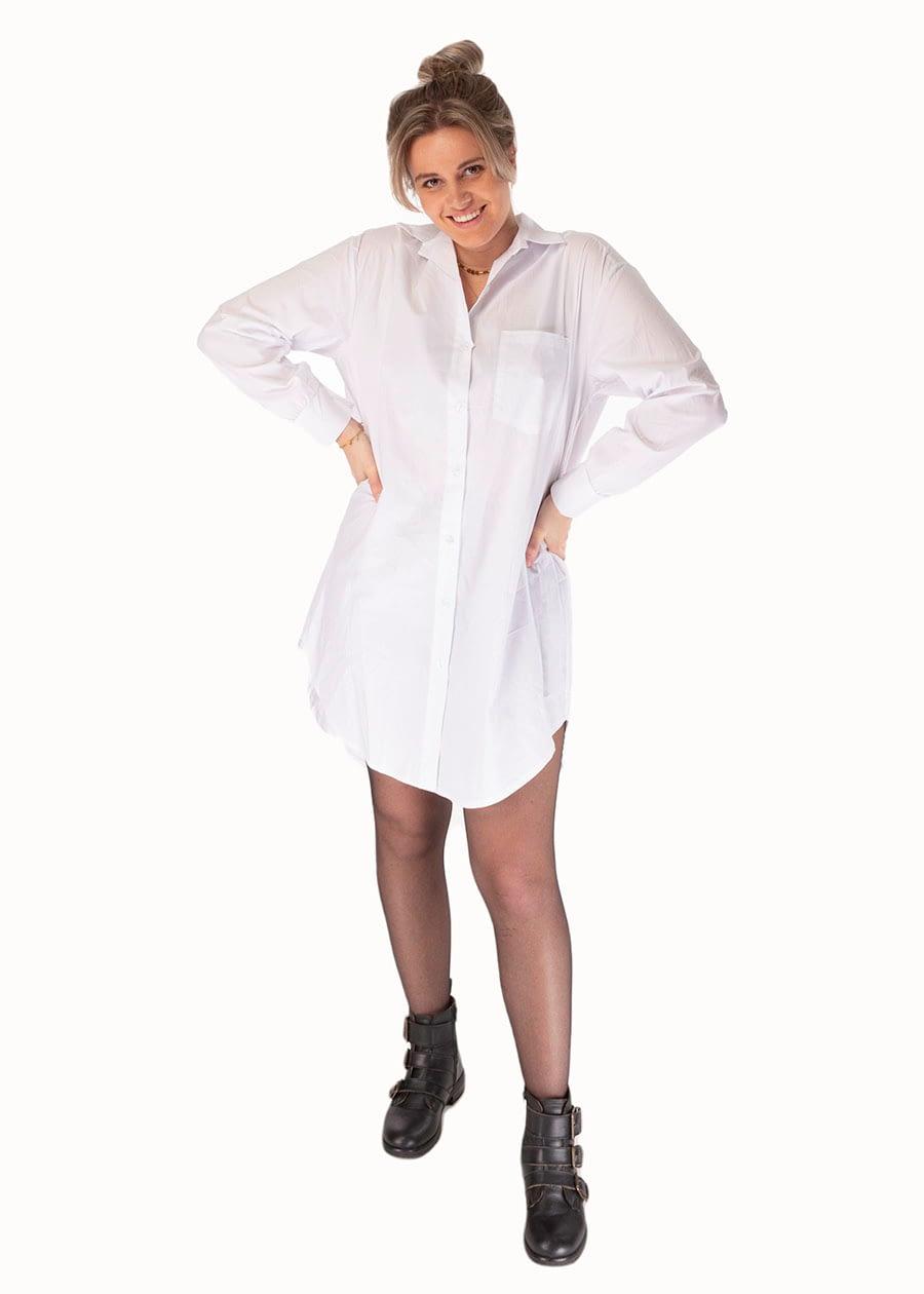 Lange blouse katoen