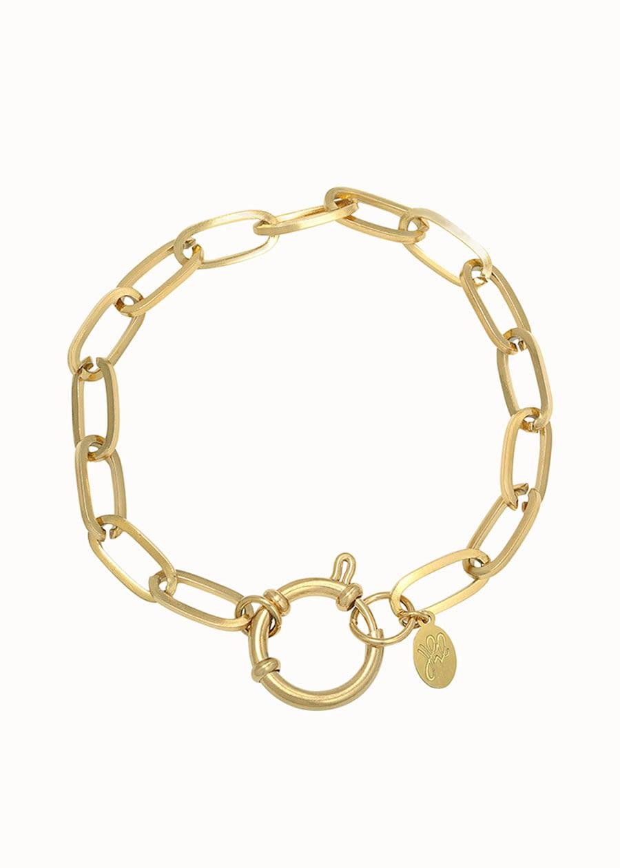 Gouden sckakelarmband Eve