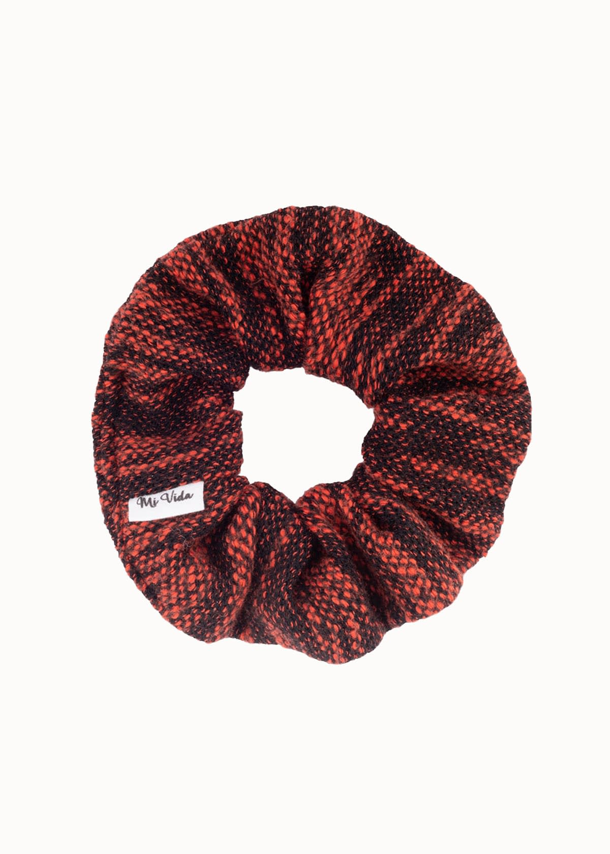 Knitted scrunchie rood