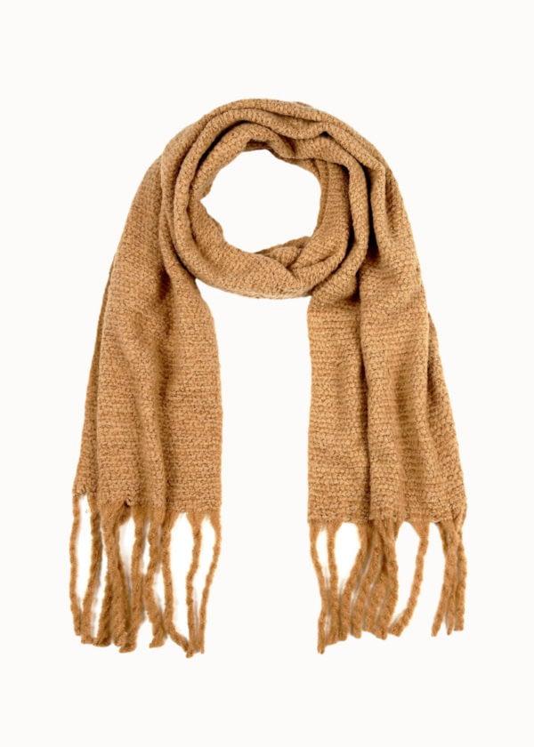 Cozy sjaal camel