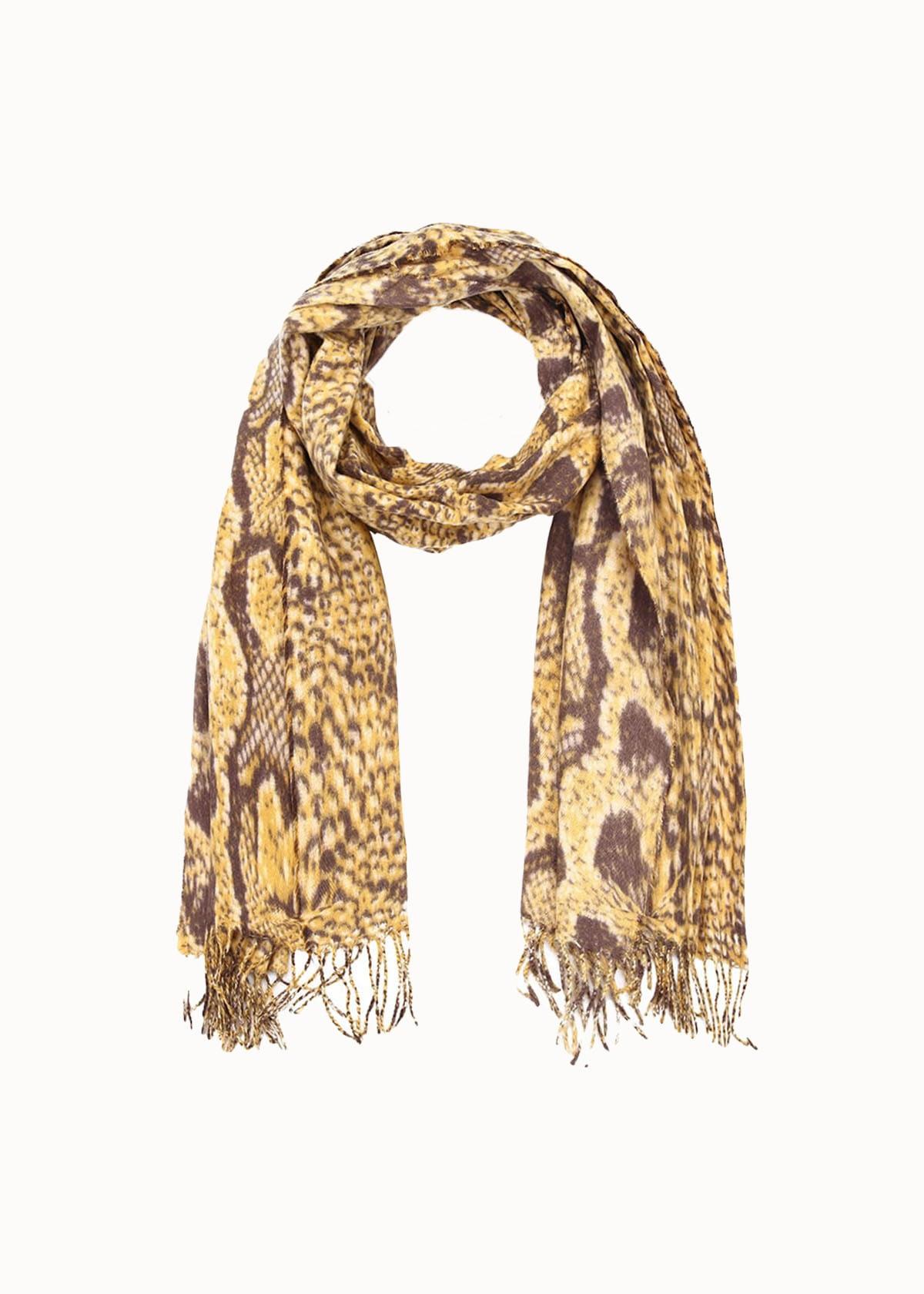 Cozy dames sjaal snake print