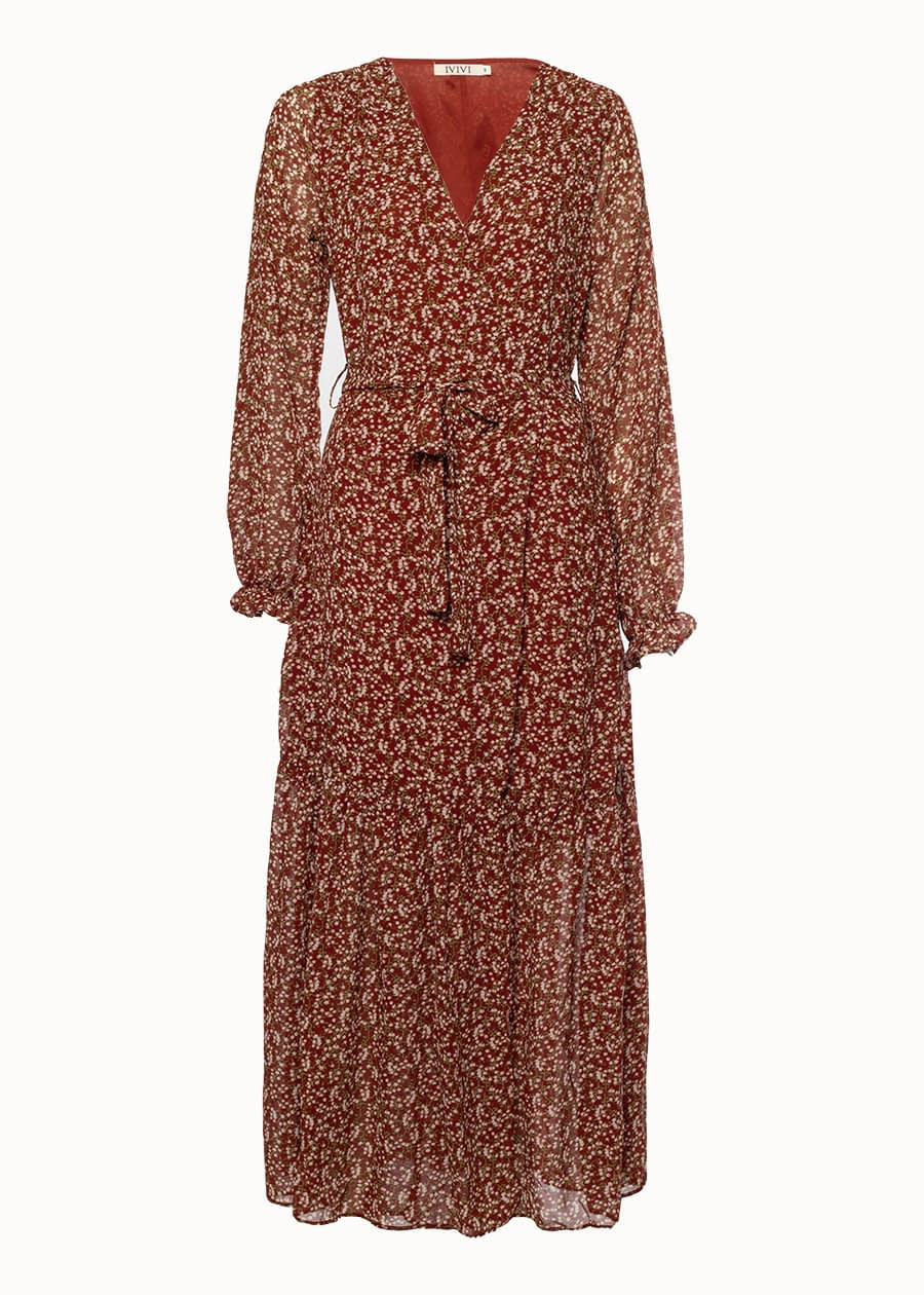 Maxi dress bordeaux