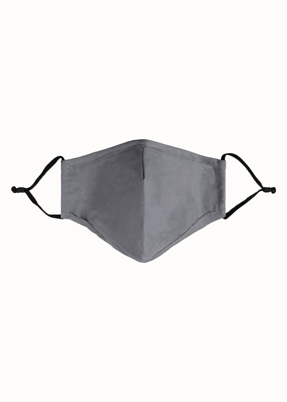 Mondkapje donker grijs
