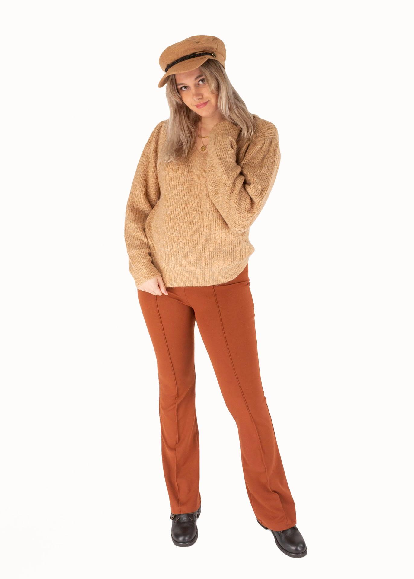 Lynn flared pants roest
